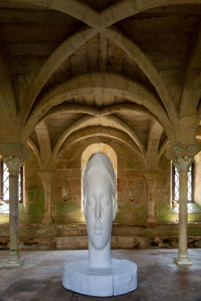 Jaume Plensa, abbaye de Fontfroide, IN SITU 2017, Photo © David Huguenin