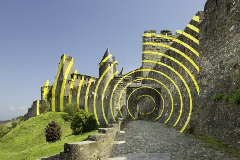 Felice Varini, Cercles concentriques excentriques