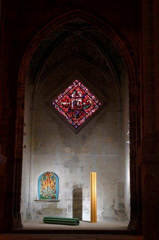 Matteo Nasini à l'abbaye de Fontfroide, Narbonne ; Il giardino perduto (2017-2019) et La Verna, coproduction Mrac/IN SITU 2019 ; Courtoisie de l'artiste / courtoisie Clima Gallery ; photo © Luc Jennepin